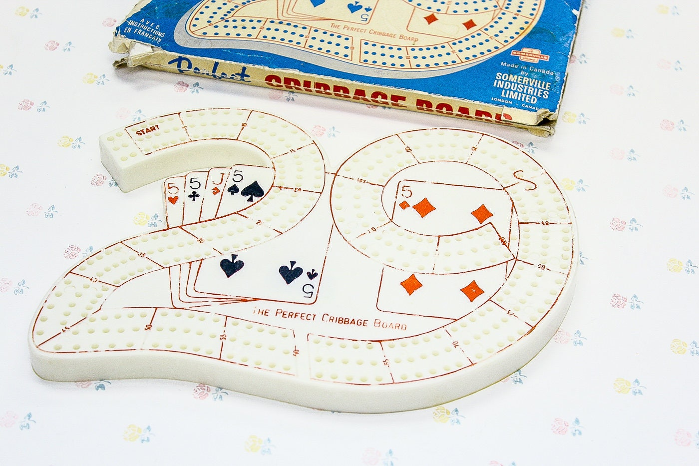 1960s Number 29 Plastic Cribbage Board Retro Gift For Dad Etsy