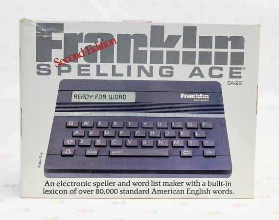 Learning Toys 80s Toys 80/'s Gifts for Her Computer Geek Gift Vintage Electronics Gifts for Men Vintage Franklin Computer Spelling Tool