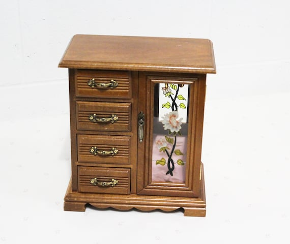 Vintage Jewelry Chest with Drawers, Jewellery Box,