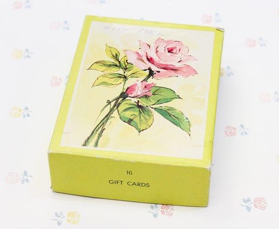 16 Assorted Mini Greeting Cards Vintage Card Set