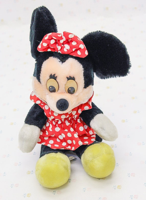 Vintage Plush Minnie Mouse Doll Vintage Disney Minnie Mouse Etsy
