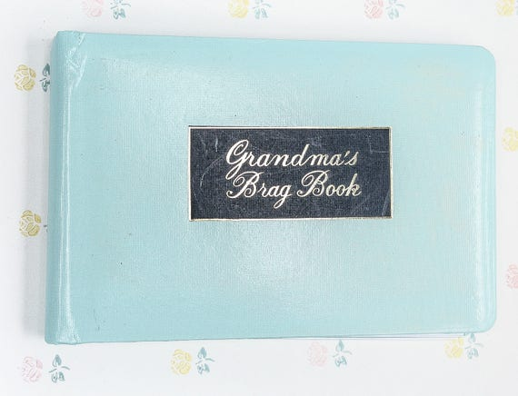 Vintage Grandmas Brag Book In Teal Brag Book Gift For Etsy