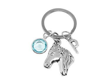 Horse Keyring, Personalized Horse Keychain, Horse Keychain, Horse Lover Keychain, Gift For Horse Lover, Horse Rider Gift, Horse Gift For Her