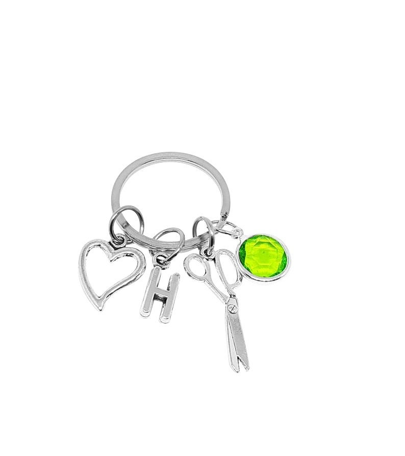 Hair Dresser Keyring Scissor Keyring Scissor Keychain Tailor Keychain Hair Stylist Gift Seamstress Gift Hair Stylish Keychain