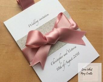 Pocket Design Wedding Invitation