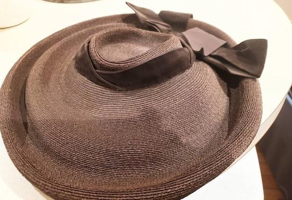 1950s Christian Dior Hat with Velvet Bow