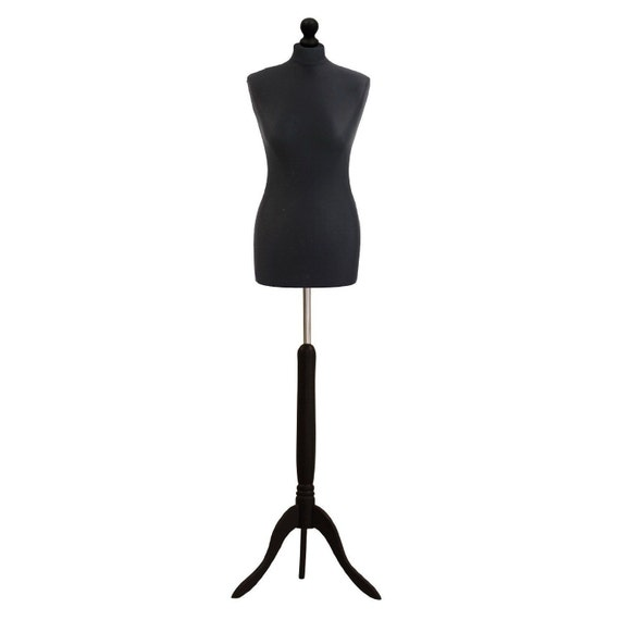 Female Sewing Dummy Size 10//12 Dressmakers Display Mannequin White Black Cream
