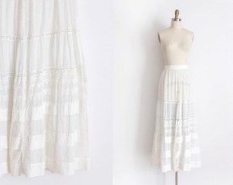 Antique Edwardian Skirt // 1900s skirt in larger size