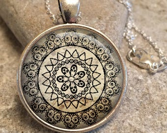 yoga gift y11 Yoga Jewelry Necklace Yoga Necklace,yoga gift,yoga mandala,mandala jewelry,mandala necklace,spiritual jewelry,gifts for her