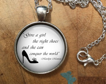 Marilyn Monroe Necklace Pendant, marilyn, monroe, gift for her, marilyn monroe quote, gift for women,