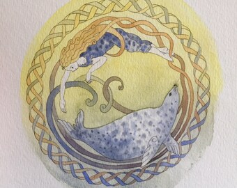 Selkie Dream Seal Print A4