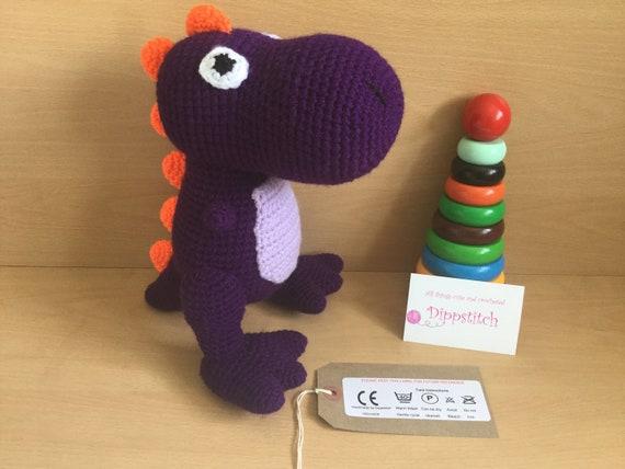 Amigurumi Dinosaurier - mit Rassel - Häkelanleitung - Anfänger ... | 428x570