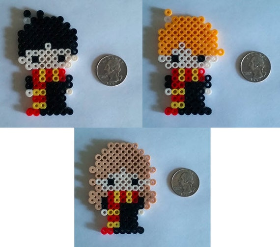 Harry Potter Ron and Hermione Perler Beads | Etsy