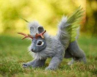 Flying Wood Hare - fantasy jackalope