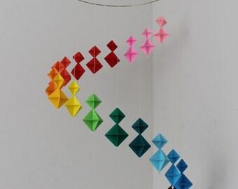 Rainbow Origami Mobile
