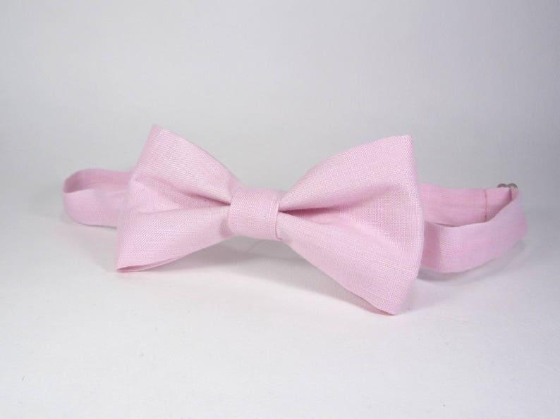 117b8785b671 Light Pink Bow Tie Blush Pink Bow Tie Wedding bow tie men | Etsy