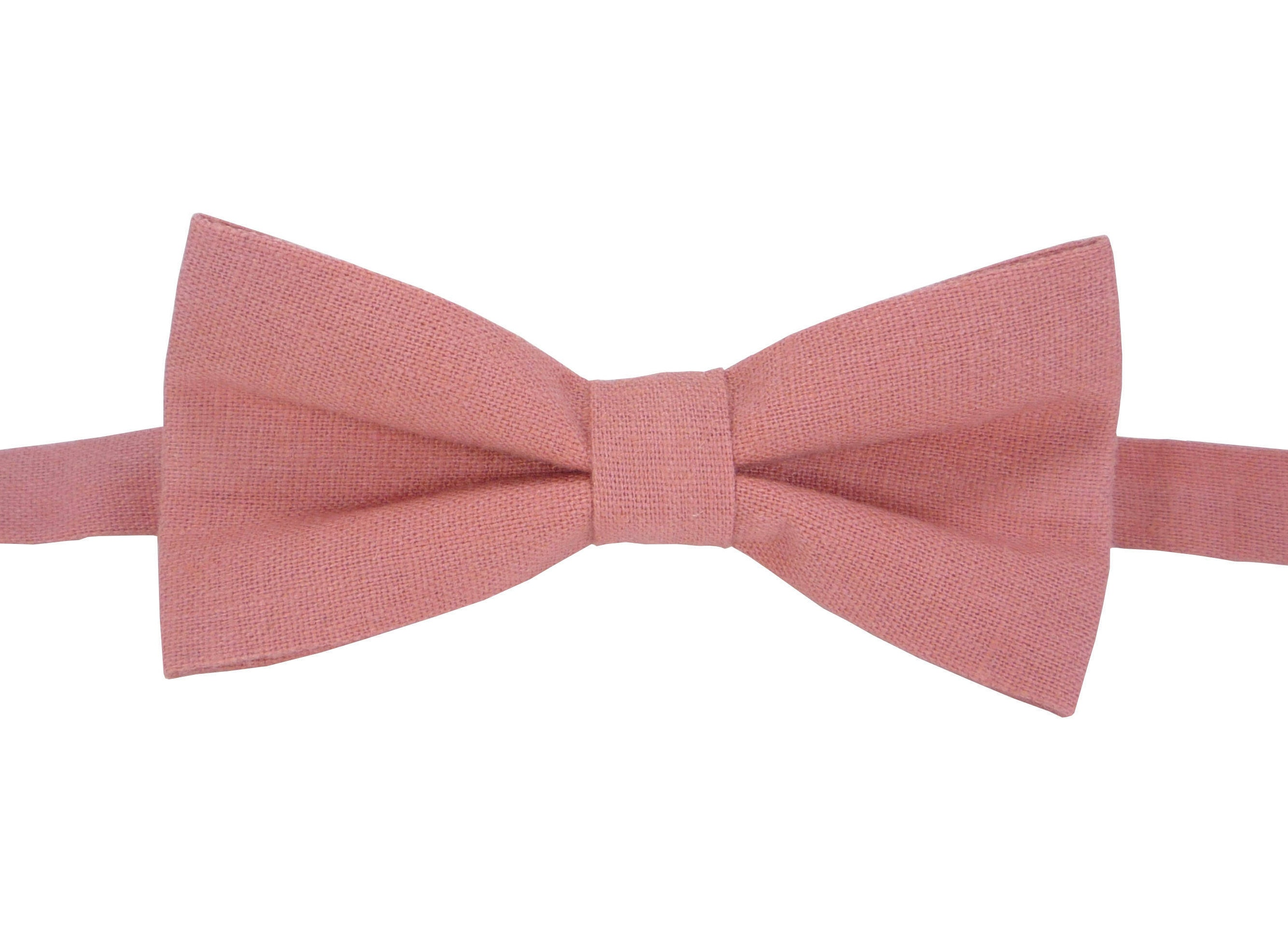 5ab5e745c423 Pink Bow Tie for wedding linen bow tie for men Bow tie pink | Etsy