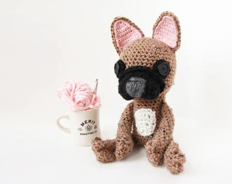 Crochet Fawn Mix French Bulldog – stuffed animal toy, handmade to order