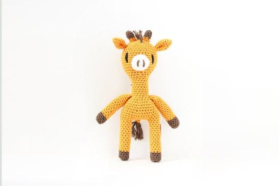 Crochet Mini Giraffe Stuffed Animal Stuffed Animal Toy Etsy