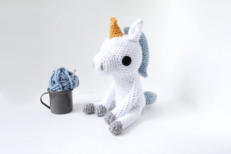 Crochet Unicorn Doll  stuffed animal toy handmade to order image 0