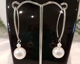 Swarovski Pearl Earrings on Sterling Silver Hooks