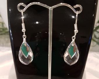 Tear Drop Clear Swarovski Crystal Earrings