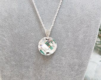 Swarovski Crystal Wave Necklace with Cut Out
