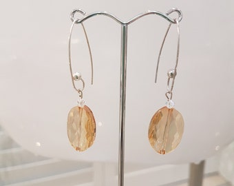 Two Different Styles of Swarovski Crystal Earrings