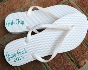 f0559df1a06 Monogrammed Flip Flops Custom Flip Flops Personalized Flip
