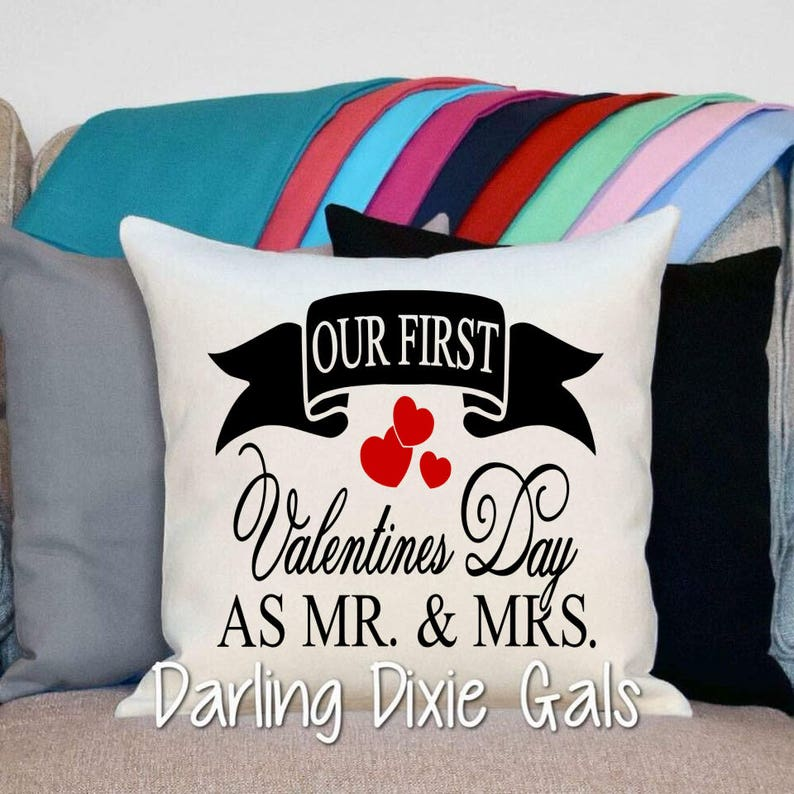 e931cd125665de Valentine Pillow Personalized Gift Wedding Valentines