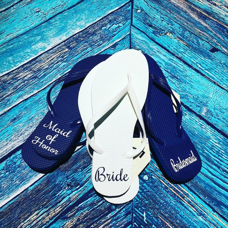 6397d9edb23636 Monogrammed Flip Flops Custom Flip Flops Bridesmaid Flip