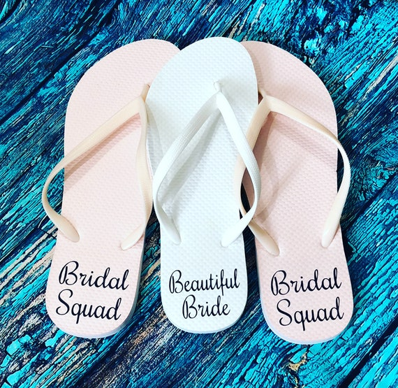 08db935e1 Custom Flip Flops Personalized Flip Flop Bridal Party Flip