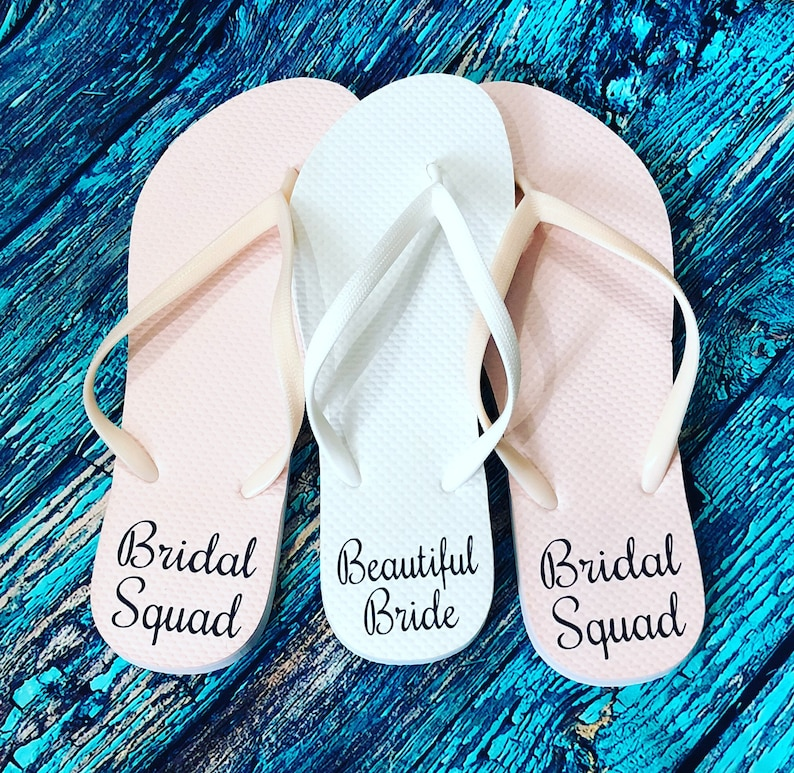 8361f0e56d320a Custom Flip Flops Personalized Flip Flop Bridal Party Flip