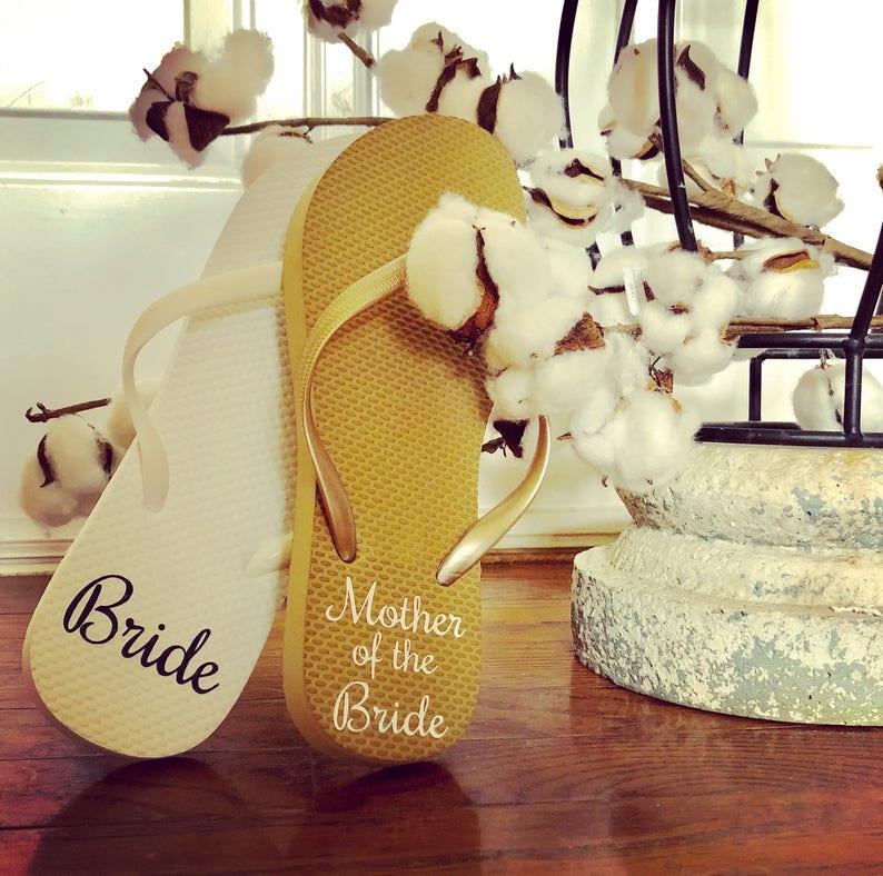 8b7d26f5ae3 Bridal Flip Flops Monogram Flip Flops Wedding Flip Flops