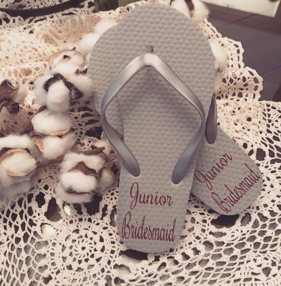aa21bf827d1362 Bridesmaid Flip Flops Bridesmaid Gift Flip Flops