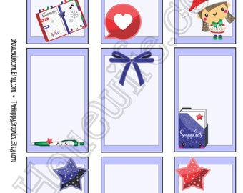 Christmas planner girl,  Happy Planner stickers [193] , Full box, A5 PDF, Instant download