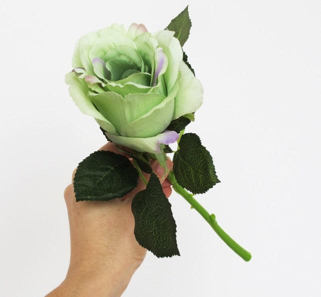 3 silk roses blue green aqua rose bouquet artificial silk etsy image 0 mightylinksfo