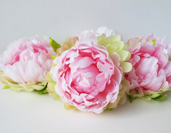 Soft Pink 10 Mini Peonies Artificial Silk Flowers Pink Peony Etsy