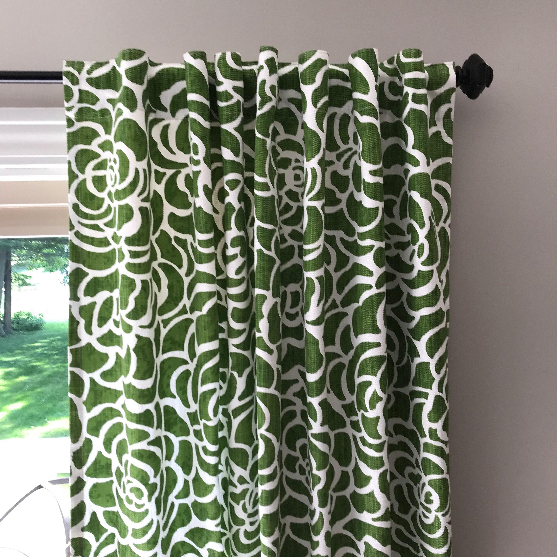 Image of: Mid Century Modern Window Treatment Panels 50 In Width Etsy