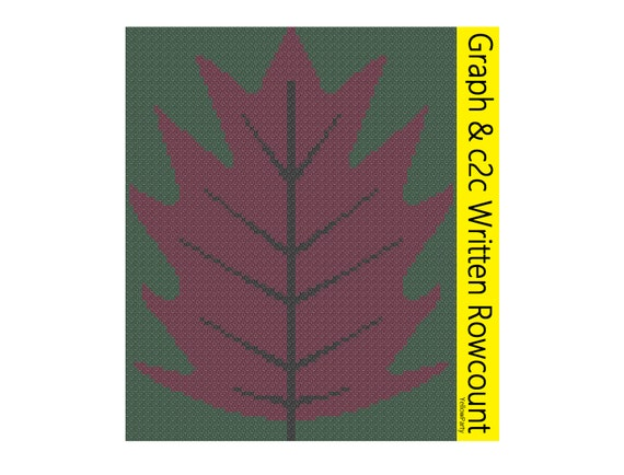 Häkeln Muster Herbst Blatt Raster c2c Ecke zu Ecke zählen   Etsy