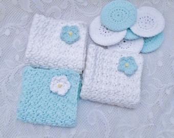 100 % Cotton Crochet Wash/Face Cloths and Scrubbies