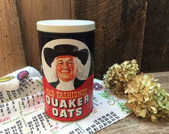 Quaker Oats Limited Edition Can/1982/Farmhouse Kitchen Decor