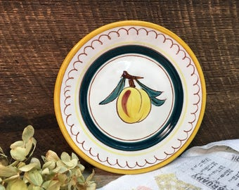 Stangl Pottery Dessert Plate/Fruit/Peach/Wall Plate/Made in USA