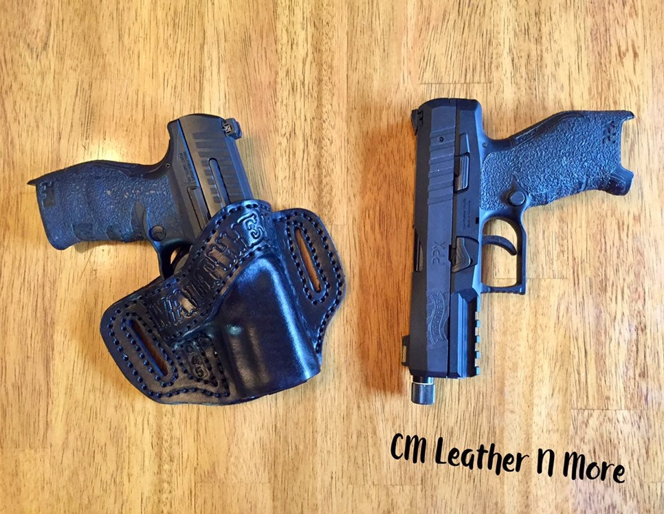Handmade Black Leather Walther Ppq Q45 Ppx Holster Etsy