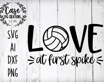 Love at First Spike HTV transfer or sublimation transfer Volleyball DIY t-shirt transfer Love at First Spike volleyball decal
