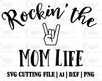 Rockin' the Teacher Life SVG Cutting File Ai Dxf and Png