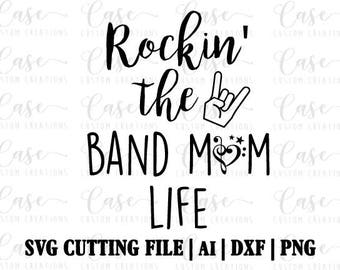 Rockin The Band Dad Life Svg Cutting File Ai Png And Etsy