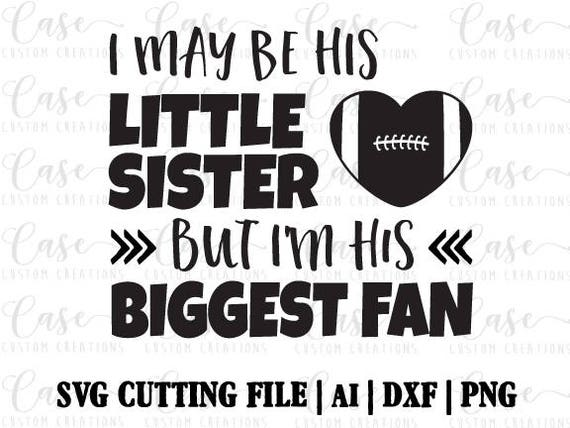 Football Sister Svg Cutting File Ai Png And Dxf Instant Etsy