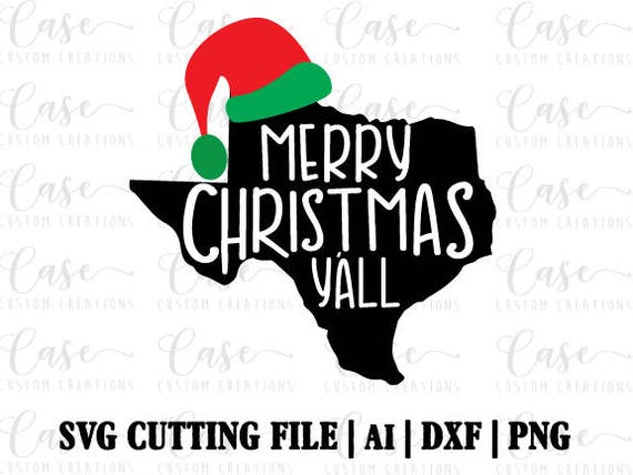 Merry Christmas Y All Svg Cutting File Ai Dxf And Png Etsy