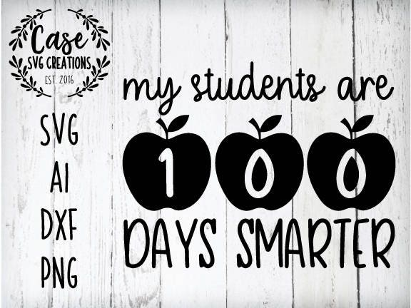 image regarding 100 Days Smarter Printable referred to as College students are 100 Times Smarter SVG Chopping Report, Ai, Dxf and